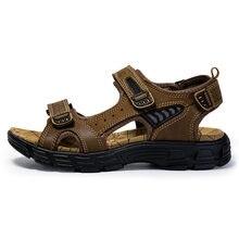 Tantu/Новые летние мужские сандалии; кожаные дышащие уличные