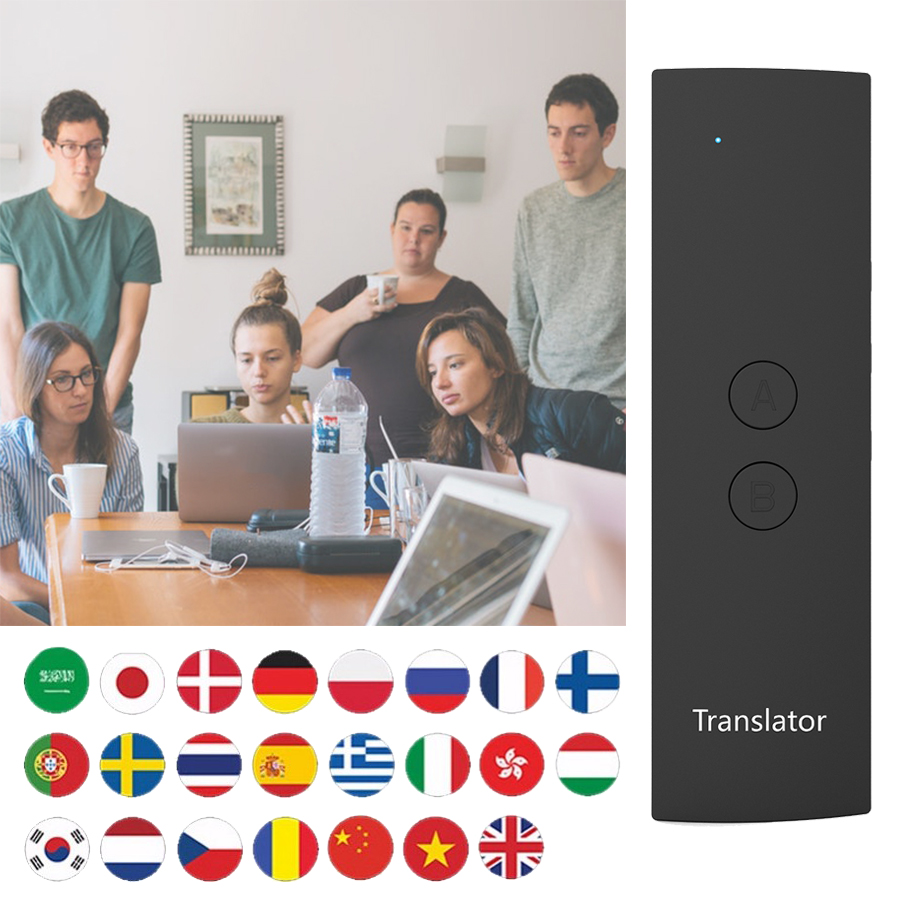 T6 Easy Languages Translator Portable Instant Multi-language Smart Real- Time Voice Translator For Travel Business Study