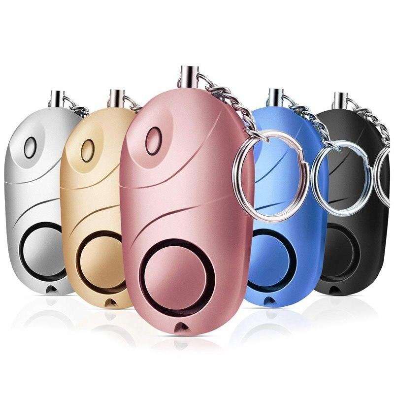 Paquete de 5 alarmas personales de sonido seguro, llavero de seguridad de emergencia 130 db, minilinterna LED con alarma de sonido segura de Seguridad de Defensa Personal Baseus T2 rastreador Mini GPS Antipérdida, rastreador Bluetooth para llavero, billetera para niño, alarma antipérdida, localizador de clave de etiqueta inteligente