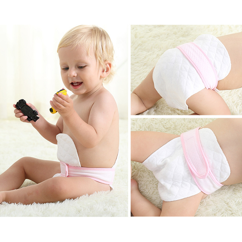 5PCS Reusable baby Diapers 100% Cotton Changing Cloth Inserts 1 piece 3 Layer Washable Nappy baby care Eco-friendly diaper