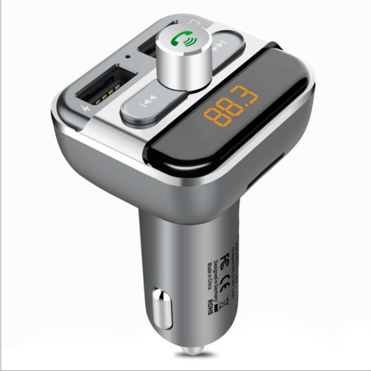New Style BT20 Double USB Car MP3 Vehicle Player Bluetooth Hands-free Car Kit MP3 Hands-Free Calling Car Charger