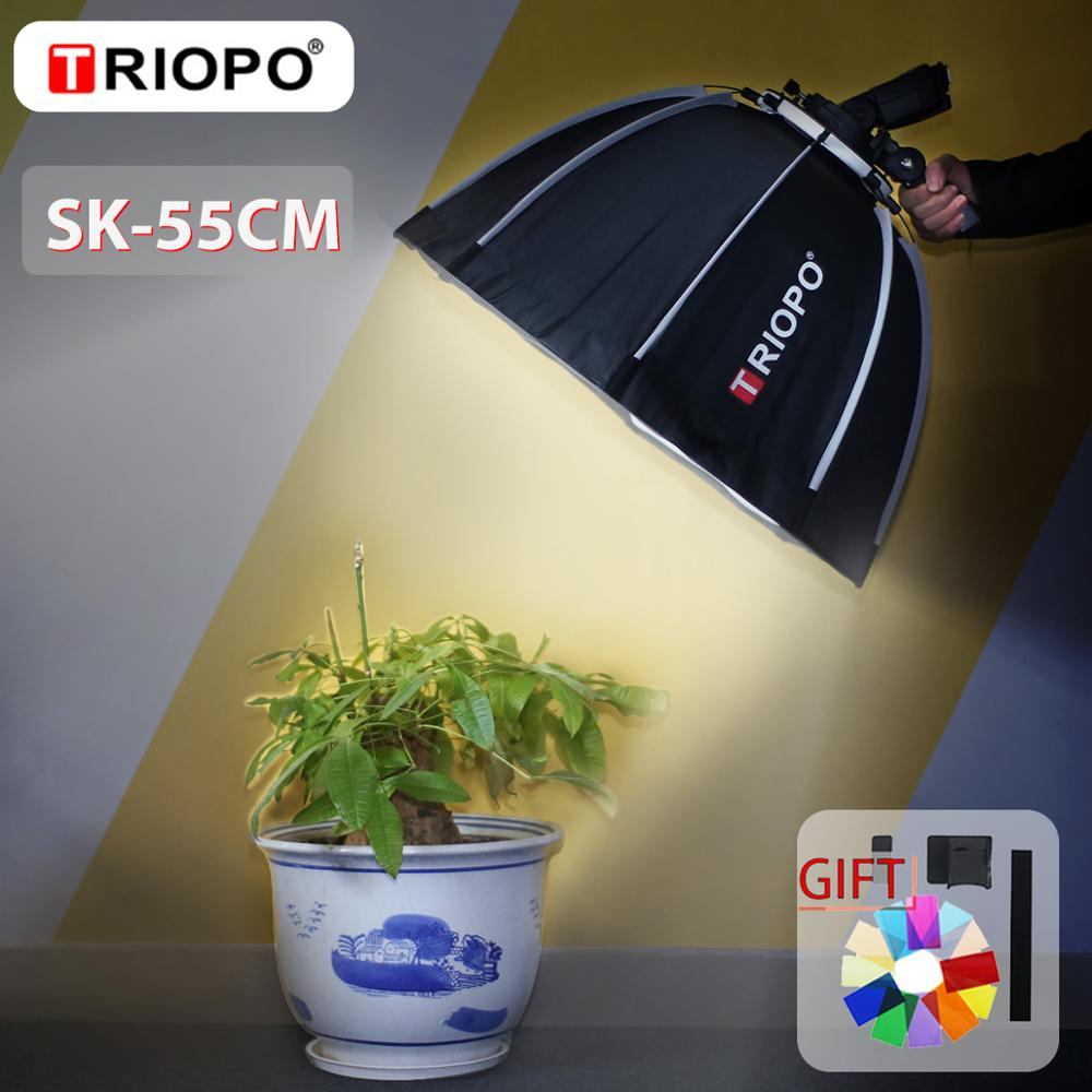 TRIOPO 55cm Octagon Softbox Umbrella Softbox With Handle For Godox On-Camare Flash Speedlite Photography Studio Accessories