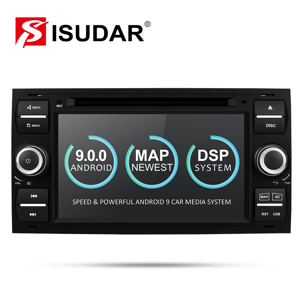 Isudar Car Multimedia Player Android 9 <font><b>GPS</b></font> Autoradio 2 Din 7 Inch For <font><b>Ford</b></font>/Mondeo/Focus/<font><b>Transit</b></font>/C-MAX/S-MAX/Fiesta 2GB RAM DVD image