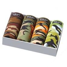 4 pçs/lote Camuflagem Impresso Boxer Shorts Masculino Calcinhas Respirável Roupa Interior Confortável Para Homens Boxer Shorts de Hombre
