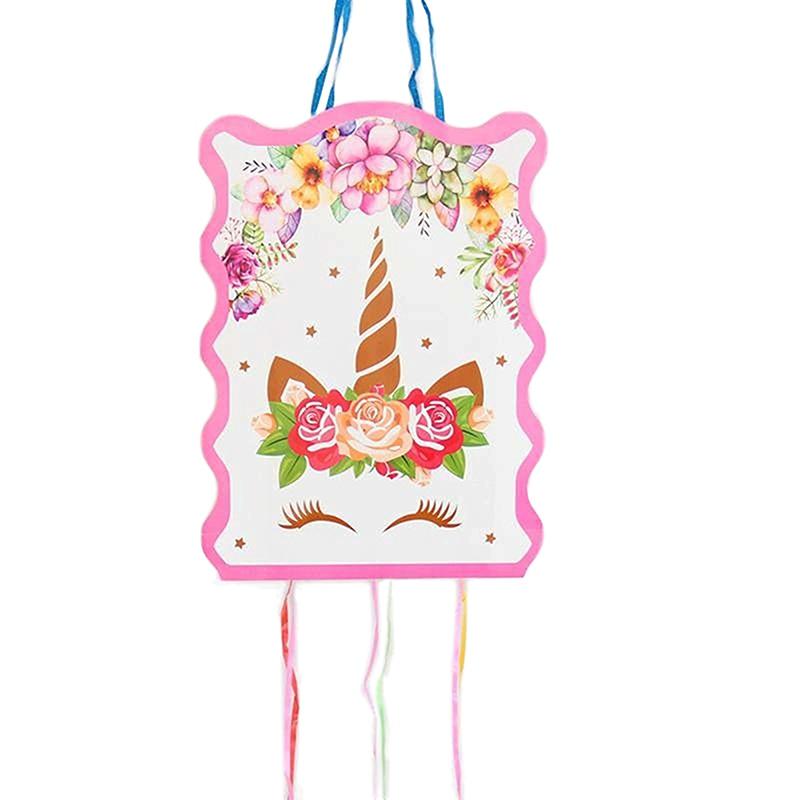 1 Набор 29*40 см Единорог бумажная Складная пиньята детские штаны для мальчиков и девочек День рождения Сделано в Китае с днем рождения воздуш...