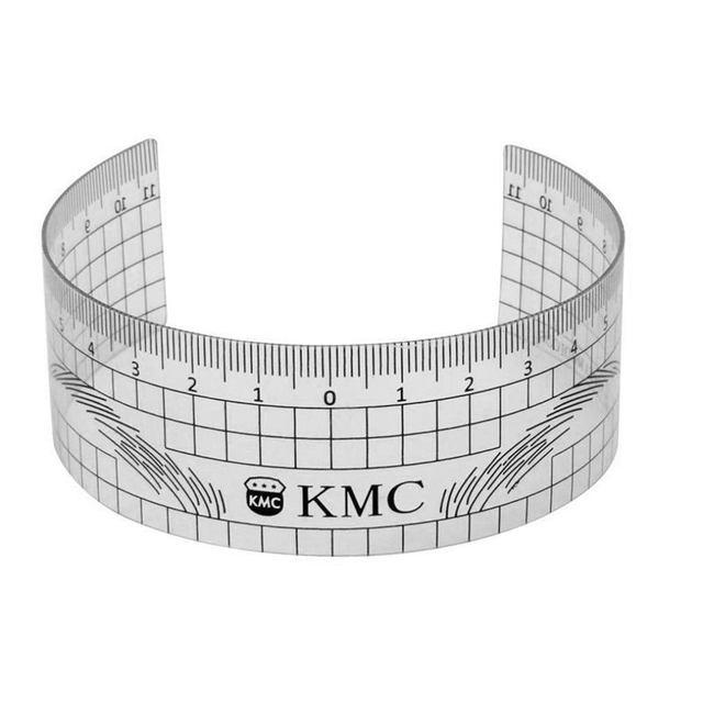 Microblading Reusable Makeup Brow Measure Eyebrow Guide Ruler Permanent Tools (Gray 01)