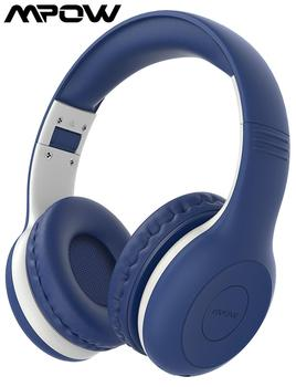 Mpow Wireless Bluetooth 5.0 Kids Headphones with mic HD Stereo 16-Hours Studytime Over-ear Headset for PC/Cellphone/iPad /Study