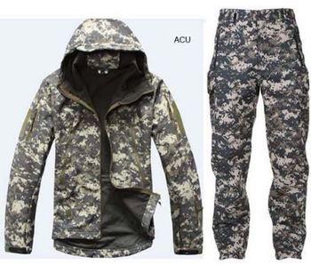 Kamuflaż odzież myśliwska skóra rekina miękka powłoka Lurker Tad V 4 0 Outdoor Tactical wojskowy polar kurtka + spodnie mundurowe garnitury tanie i dobre opinie WOLF ENEMY Poliester WindStopper Szybkie suche Wodoodporna Wiatroszczelna Termiczne Softshell About 1600g Pasuje prawda na wymiar weź swój normalny rozmiar