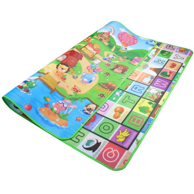 Cute Baby Play Mat 200*180*0.5cm Crawling Mat Double Surface Baby Carpet Creative Cartoon Design Developing Mat For Children