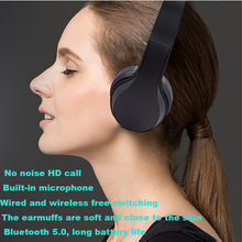 best selling 2019 products Bluetooth 5.0 Headphone Wireless Hi-Fi Stereo Mic Foldable Headset Over Ear support dropshipping(China)