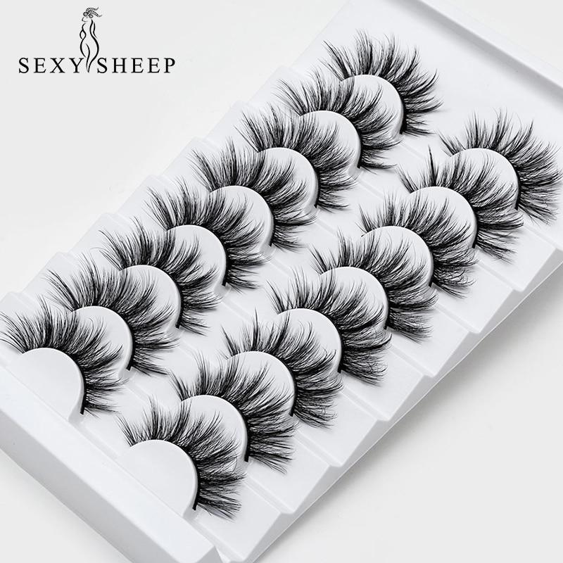 SEXYSHEEP Eyelash-Extension Makeup 3d-Mink-Lashes Dramatic-Volume Natural 4/8-Pairs