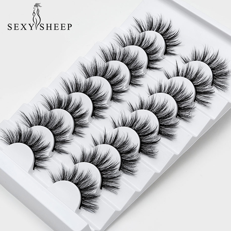 SEXYSHEEP 4/8 pairs 3D Mink Lashes Natural False Eyelashes Dramatic Volume Fake Lashes Makeup Eyelash Extension Silk Eyelashes|False Eyelashes| |  - AliExpress