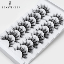 SEXYSHEEP 5 8 pairs 3D Mink Lashes Natural False Eyelashes Dramatic Volume Fake Lashes Makeup Eyelash Extension Silk Eyelashes cheap Strip Lashes CN(Origin) Other 1cm-1 5cm Black Cotton Band S8M1500040 Full Strip Lashes Thick Hand Made 5 8pairs