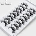 Eyelash-Extension Makeup 3d-Mink-Lashes Dramatic-Volume SEXYSHEEP Natural 5/8-Pairs