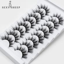SEXYSHEEP pestañas postizas de visón 3D, extensiones de pestañas de seda, voluminosas y espectaculares, 5/8 pares