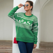 Christmas Sweater Kint Women Winter 2019 Autumn Deer Ladies Loose Sweaters And Pullovers