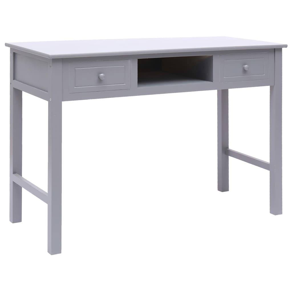 VidaXL Writing Desk Grey 110x45x76 Cm Wood