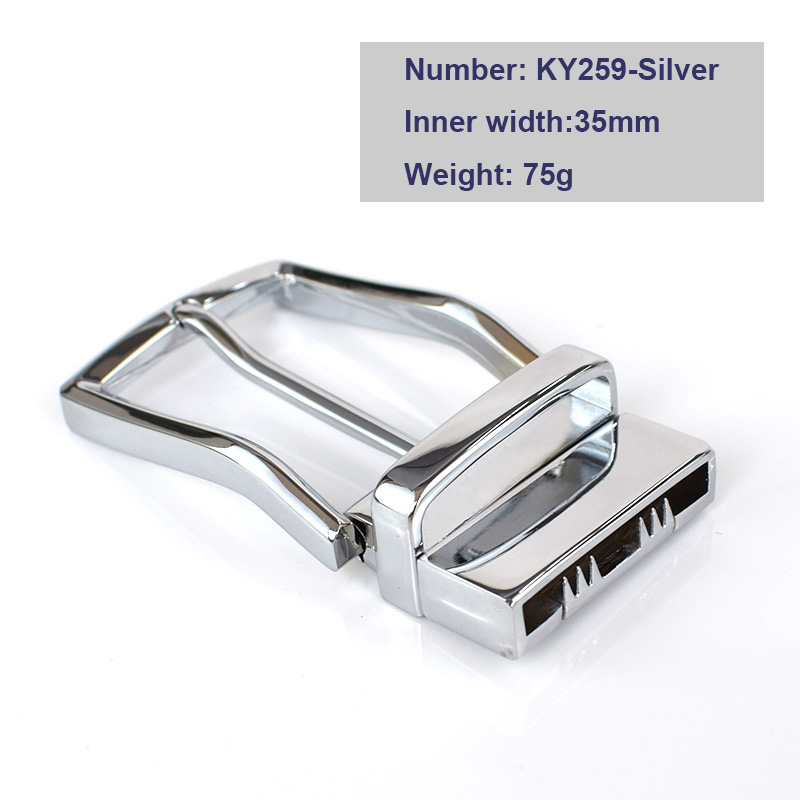 Deepeel 1pc 35/40mm Mens Solid Belt Buckles Spin Clip Clasp Head Male Hardware DIY Accessories Brushed Metal Belts Pin Buckle