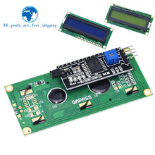 Módulo lcd tela verde azul iic/i2c 1602 para arduino 1602 lcd uno r3 mega2560 lcd1602
