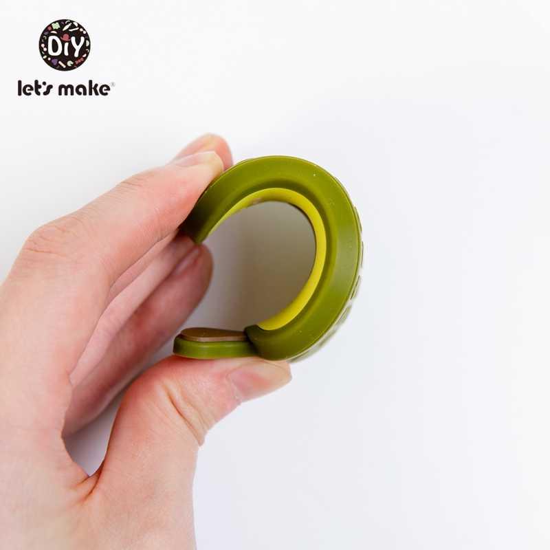 Let's Make 10pcs Baby Teetherซิลิโคนลูกปัดของเล่นBPAฟรีเกรดอาหารDIY Pacifierคลิปเครื่องประดับAvocado Chewสร้อยคอจี้