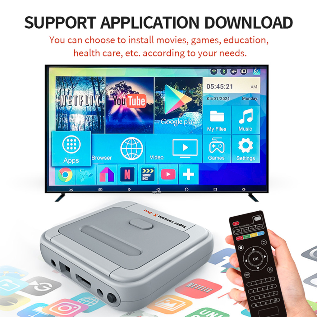 HD 4K wideo telewizyjne gra Super konsola x-pro dla PS1/N64/DC 50 + emulatory 50000 + gry 256GB S905X CPU Game Player