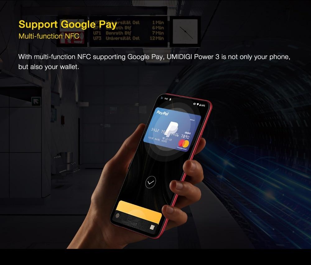"H1984210a187747e4b319d389f16ca957o UMIDIGI Power 3 Android 10 48MP Quad AI Camera 6150mAh 6.53"" FHD+ 4GB 64GB Helio P60 Global Version Smartphone NFC Pre-sale"
