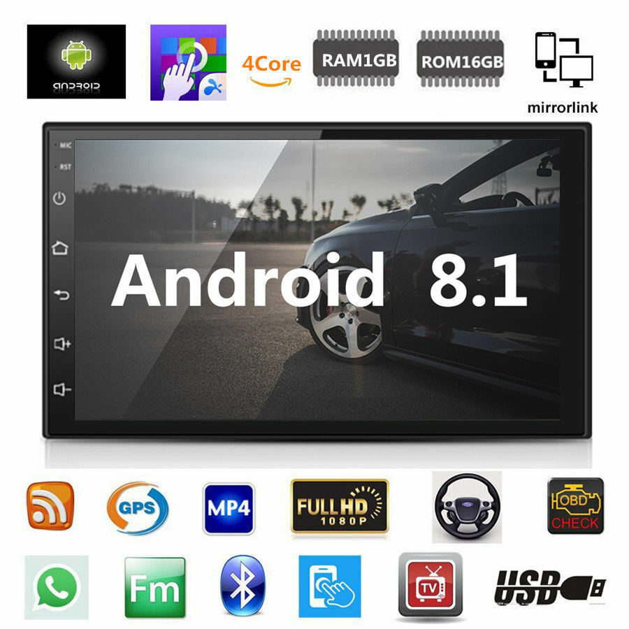 Gps Navigation Radio-Player Touch-Screen Car-Stereo Android 8.1 Double-Din 7inch Wifi
