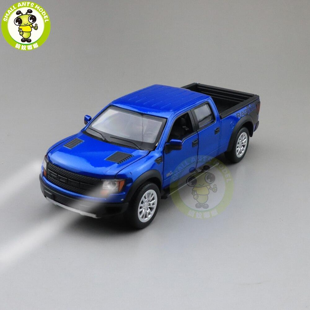 1/34 Ford F150 F-150 Raptor Pickup Truck Diecast Model CAR Toys For Kids Children Sound Lighting Pull Back Boy Girl Gifts