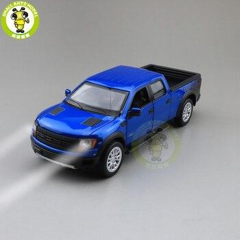 1/34 Ford F150 F-150 Raptor пикап литье под давлением Модель автомобиля игрушки для детей Детское звуковое освещение оттягивание мальчик девочка подарки