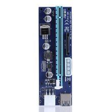 Pci e Pci Express Riser Card 1x To 16x GPU USB 3.0 Extender Raiser X1 X16 SATA 6Pin สายไฟสำหรับ BTC Miner