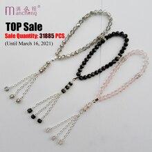 Beads Bracelet Rope-Chain Charm Muslim Jewelry Glass Crystal Tasbih Religious Prayer