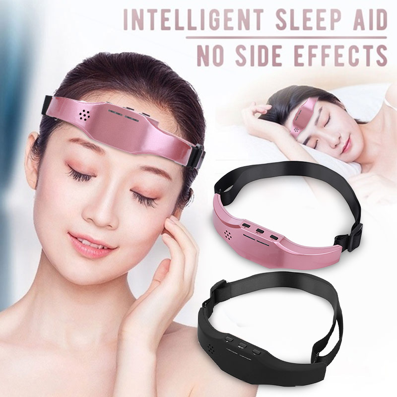 Ems Head Massager Forehead Improve Sleep Health Stress Relief Brain Massager Stimulator Brain Relaxation Low Frequency Pulse