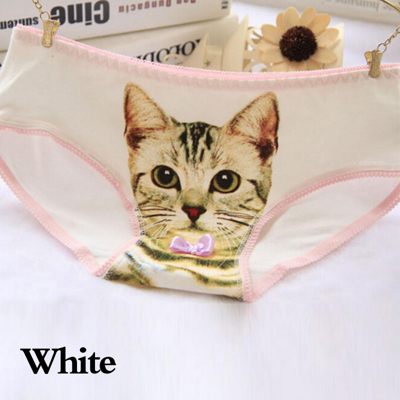 2021 Women Sexy 3D Cat Printing Panties Underwear Cotton Briefs Girls Lingerie Intimates Briefs Shorts Female Underpants 3