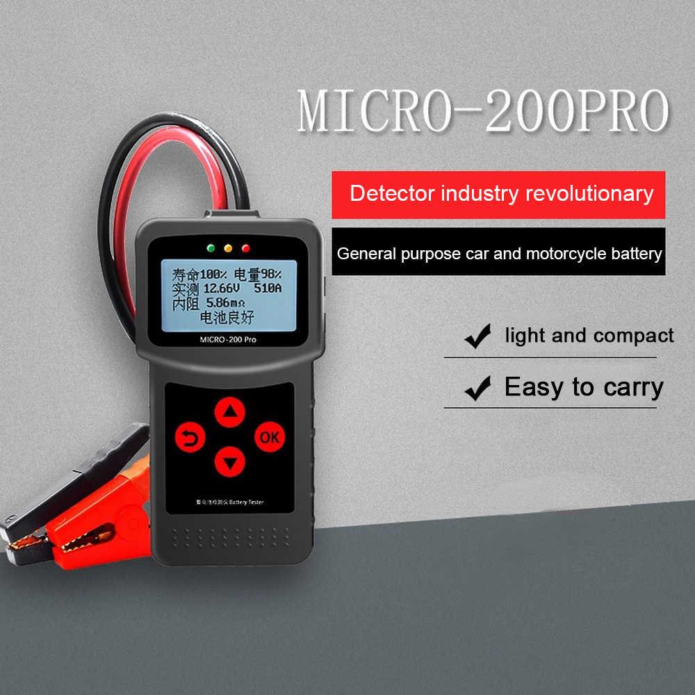 12V 24V MICRO-200 Pro Xe Kiểm Tra Pin AGM Efb Gel Hệ Thống Pin Máy Phân Tích Xe Tải Xe Máy Ô Tô Xe Chẩn Đoán dụng Cụ
