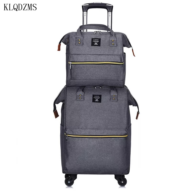 KLQDZMS Cute Rolling Travel Luggage Set With Backpacks Laptop Bag Portable Waterproof Suitcases With Wheeled Trolleys