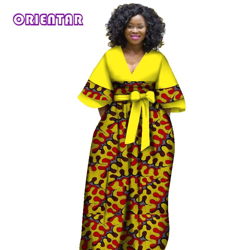 huge discount 074f6 cefe1 2018 Nuovo abiti africani per le donne bazin riche stile femme vestiti  africani grazioso della signora tessuto della cera di stampa più il formato  ...