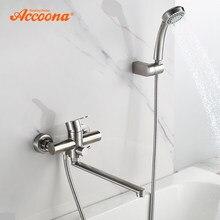 Accoona robinet de baignoire pomme de douche à main salle de bain mitigeur de douche en acier inoxydable robinet de baignoire robinets de bain A71103