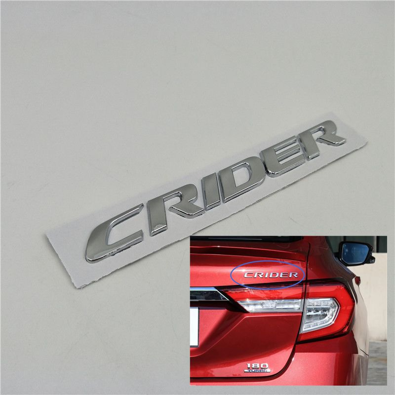 For Honda Crider Rear Trunk Tail Emblem Logo Decals Chrome Letters Script in Car Stickers from Automobiles Motorcycles