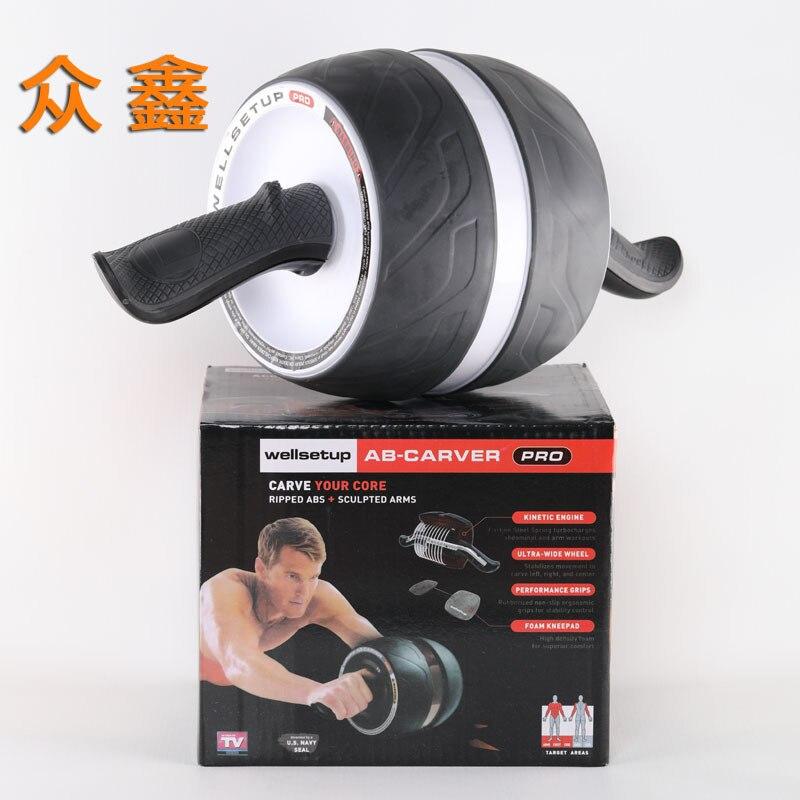 Casa deportes Tambor tipo rueda grande rueda de rodillo de potencia vientre ejercicio rodillo Abdominal entrenamiento Mute Fitness equipo AB más delgado - 5