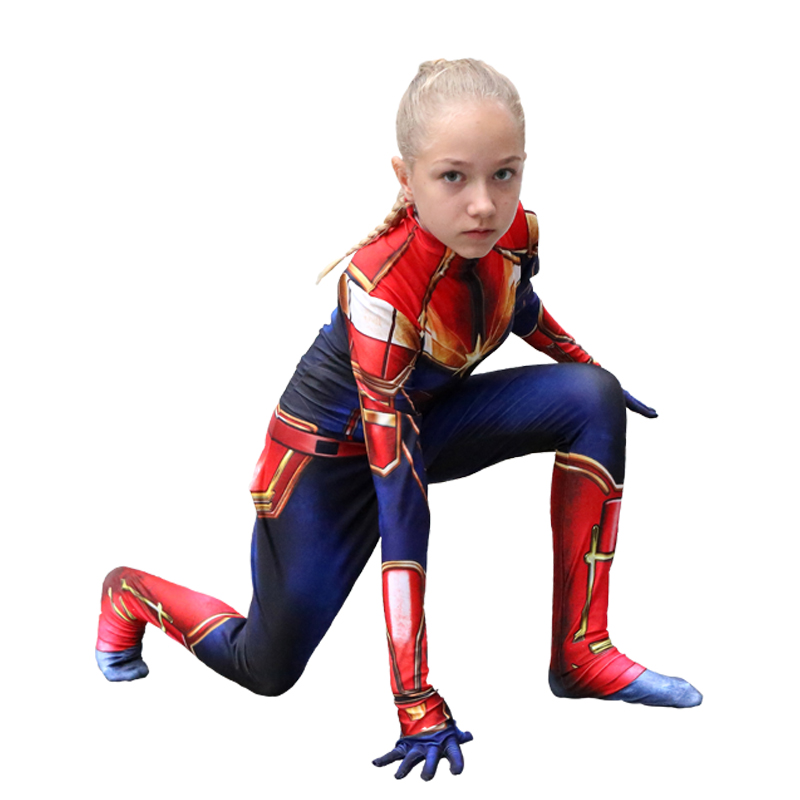 Captain Marvel Costume Kids And Adults Cosplay Costume 3d Printed Bodysuit Halloween Costumes Superhero Bodysuit Suit Jumpsuits Movie Tv Costumes Aliexpress Nowadays, we received part of customer feedback. us 17 01 10 off captain marvel costume kids and adults cosplay costume 3d printed bodysuit halloween costumes superhero bodysuit suit