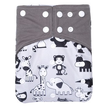 Reusable Bamboo Charcoal Cloth Diaper Waterproof One Size Pocket Diaper Adjustable Baby Nappies Eco-friendly Diaper Wholesale lecy eco life one size sleeve diaper with color tab square tab baby reusable nappy with stay dry suede cloth inner wholesale