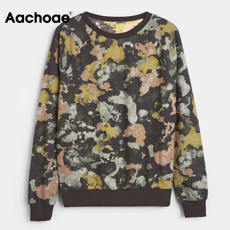 Print Sweatshirt Women Long Sleeve Hoodie 2020 Autumn O Neck Casual Jumper Pullover Tops Fashion Painting Hoodies Sudadera Mujer