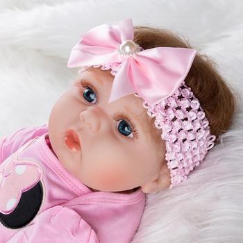 Cartoon Girls Silicone Dolls Baby Reborn Doll Girl Newborn Toys Christmas Gifts Toys 55cm Soft