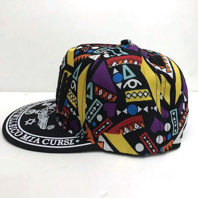 Kids Girls Sun Hat MDIV Flowers Baseball Caps Flat Brim Hiphop Snapback Hats