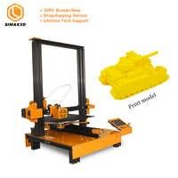SIMAX3D Mi-M200 qualité industrielle 3D imprimante bureau grande taille haute précision fdm 3d imprimante éducation plus récent kit de bricolage Hotbed