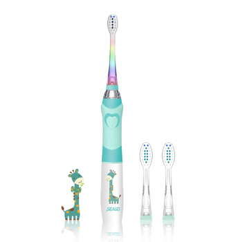 SEAGO Sonic Electric Toothbrush kids Battery Cartoon with Colorful LED Waterproof Soft Oral Hygiene Massage Teeth Care SG977 - discount item  20% OFF Personal Care Appliances
