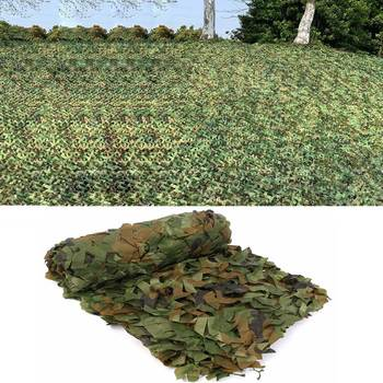 Military Camouflage Nets Woodland Jungle Car Tent Mesh Hunting Camping Shooting Fishing Sun Shelter Hide Netting Protection Net 1 1 5m woodland camouflage camo army net hide netting camping military hunting shelter high quality