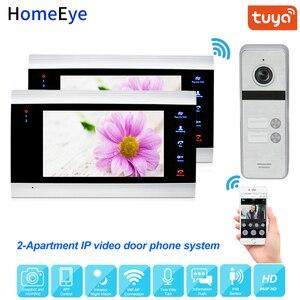 Tuya Smart App дистанционное управление IP видео телефон двери WiFi видеодомофон 2-квартиры система контроля доступа безопасности водонепроницаемы...
