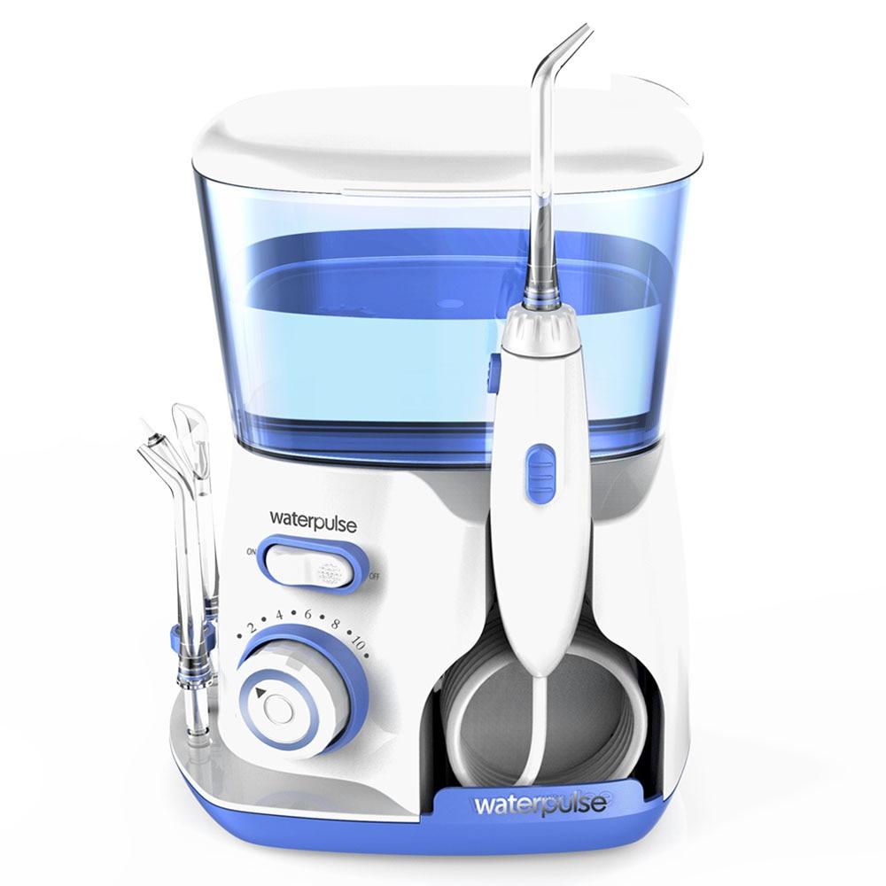 Oral Irrigator Water Flosser Portable Electric Dental waterpik 5 Jet tips 800ML Water Tank Tooth Care Teeth Cleaner Toothbrush(China)