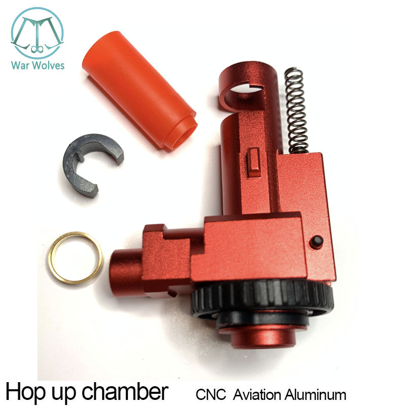 Hop Up Chamber M4 M16 CNC 7075 Aviation Aluminum Hop Up Rubber  Red For Tactical Airsoft AEG M4 M16 Paintball Airsoft Hunting